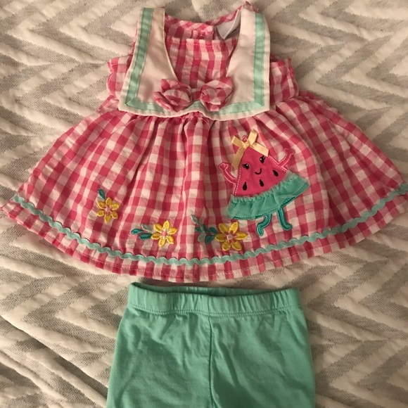Nannette Baby top and short set